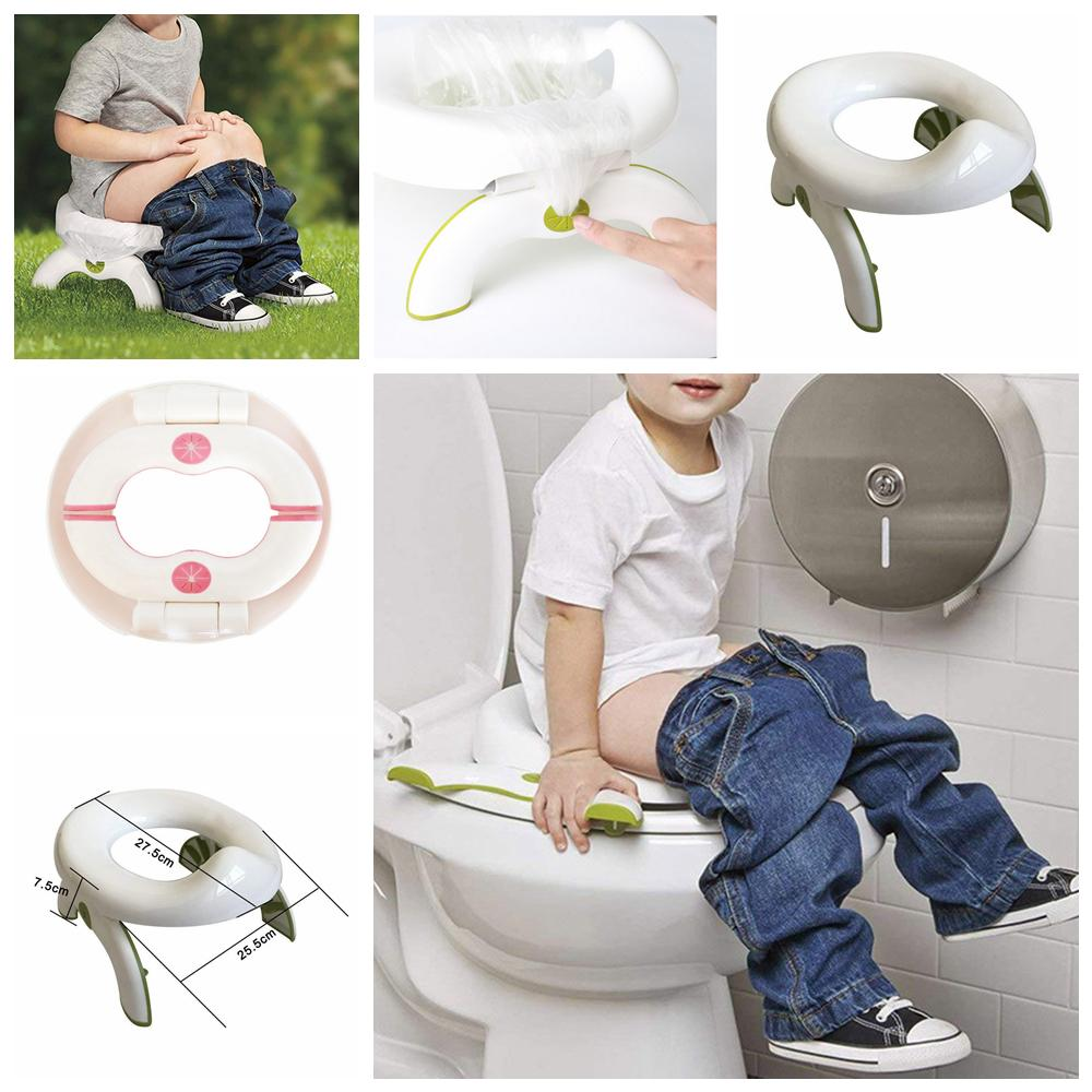2019 2 In 1 Foldable Toilet Seat Infant Chamber Pots Travel Outdoor Potty  Seat Soft Kids Trainers Folding Travel Potty Rings Baby Chair FFA1193 From  ... 1ea67ae1d