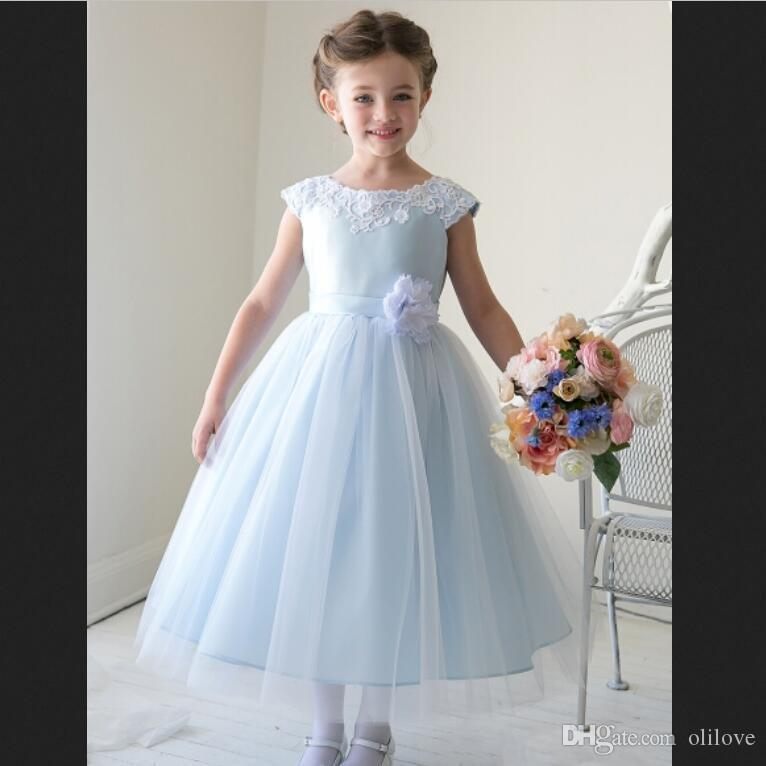 65bde5acc6 New Arrival Flower Girl Dresses With Flower Sashes Party Pageant Communion  Dress For Wedding Little Girls Kids Dress Cheap Flower Girl Dress Cheap  Flower ...