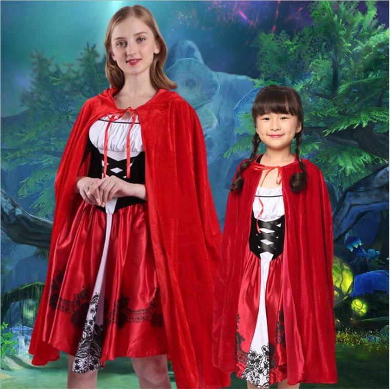 Acheter Nouvelle Arrivée Petit Rouge Chaperon Costume Pour Femmes Fantaisie  Adulte Halloween Cosplay Fantasia Robe Avec Cape Cosplay Costume Pour Fête  De ... cac6b5ebb06