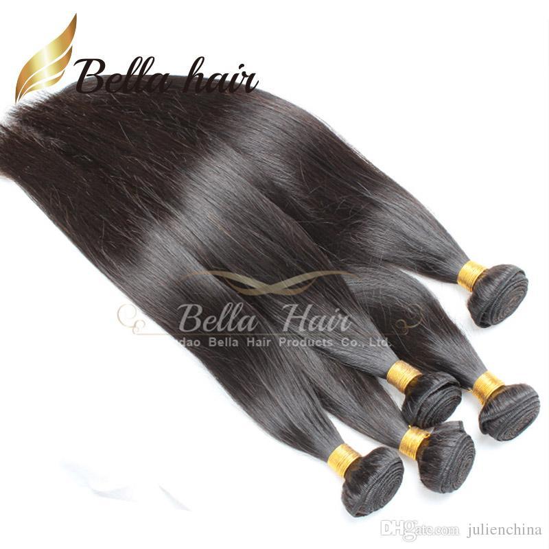 BellaHair®/ロット未処理のブラジルの髪緯ご自然な色のグレード9AストレートウィーズJulienchina
