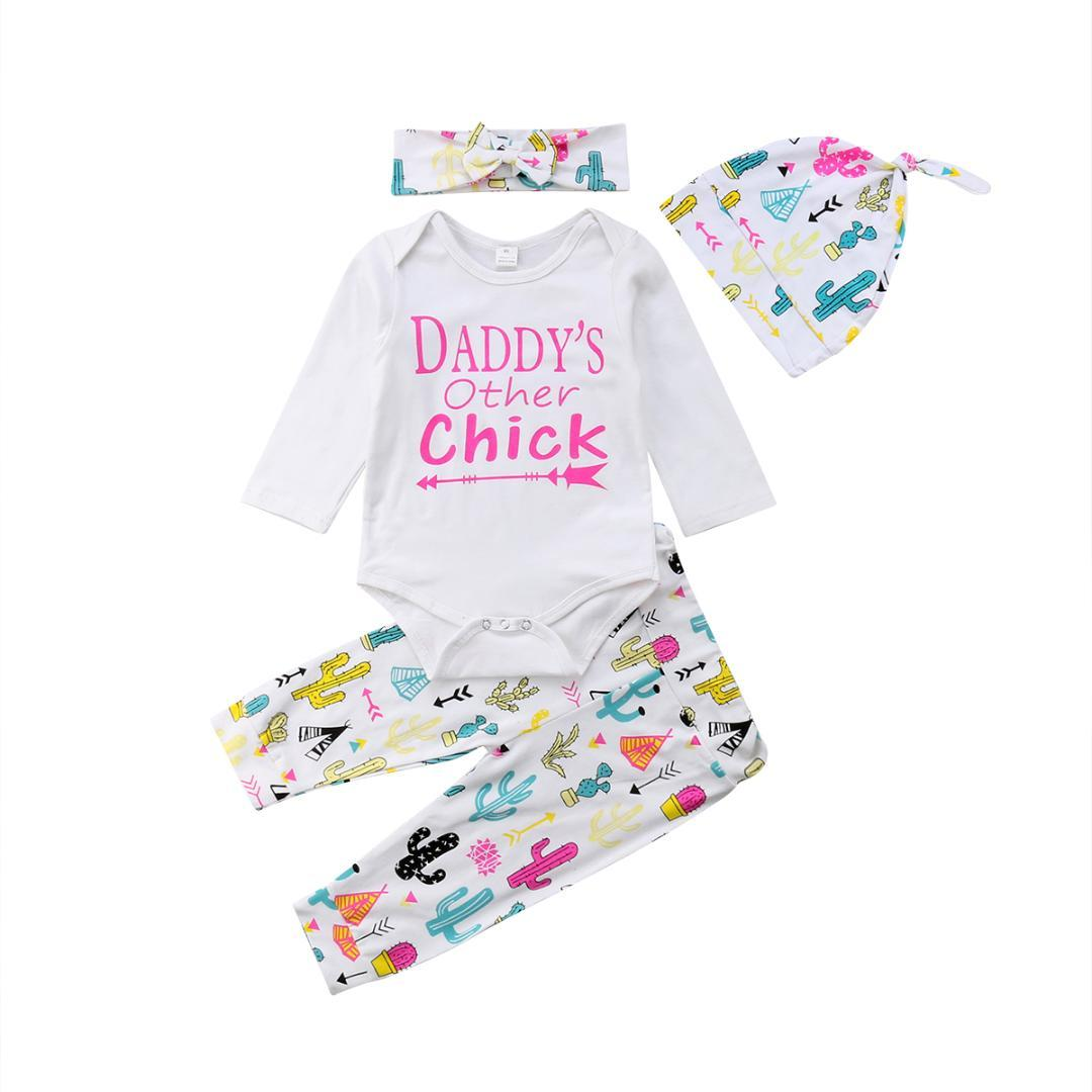 cbf370ea3 2019 Newborn Baby Boys Girl Cactus Print Clothes Set Long Sleeve ...