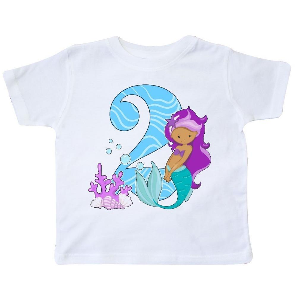 Summer Cotton T Shirt Fashion Second Birthday Mermaid Toddler Short O Neck Compression Shirts For Women Vintage Tee Family From