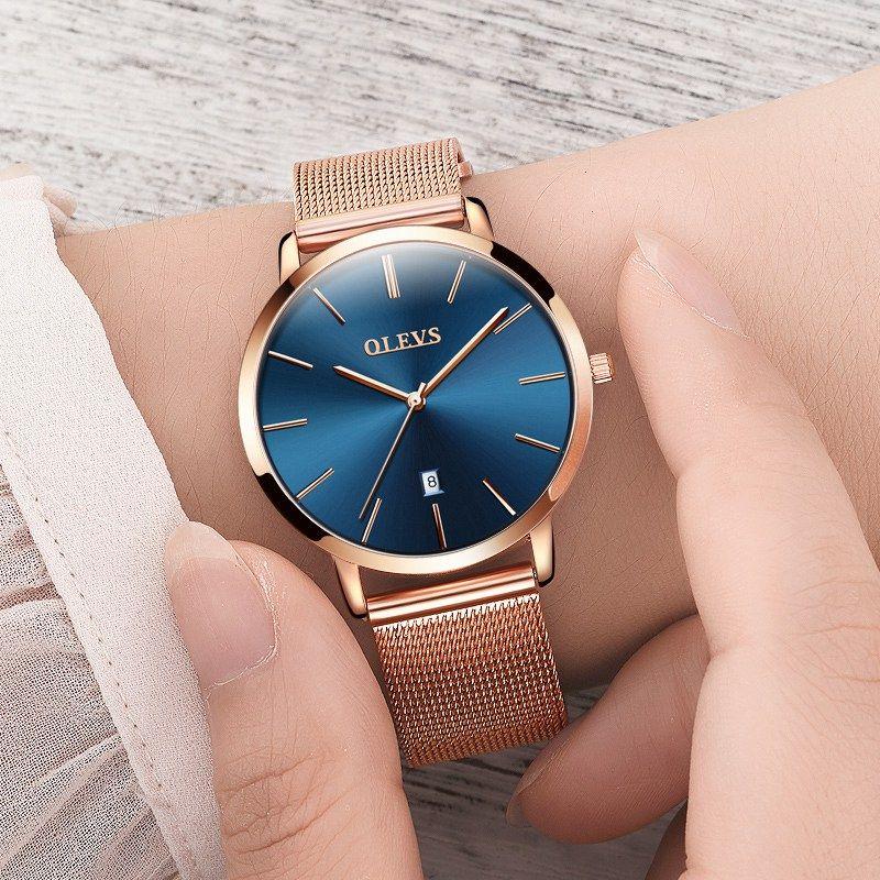 76ef594f2d81 Compre Reloj De Pulsera De Lujo Ultra Delgado Para Mujer Relojes De Lujo  Para Mujer Reloj De Pulsera De Cuarzo Dorado De Acero Inoxidable Resistente  Al Oro ...