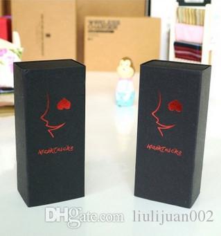 Factory outlets schublade kraftpapier boxen Schwarze karte geschenk Verpackung boxen Druckbare logo gürtel boxen Innendurchmesser abmessungen 10,6 * 8,6 * 4 CM