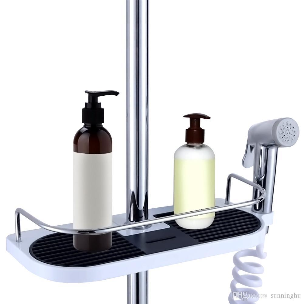 Bathroom Shampoo Lotion Tray Holder Shower Storage Bath Caddy Rack ...