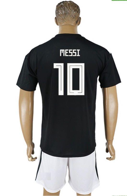 be22e9743 2018 Hot Sell Jerseys  10 MESSI Black Jerseys Top Quality Men ...