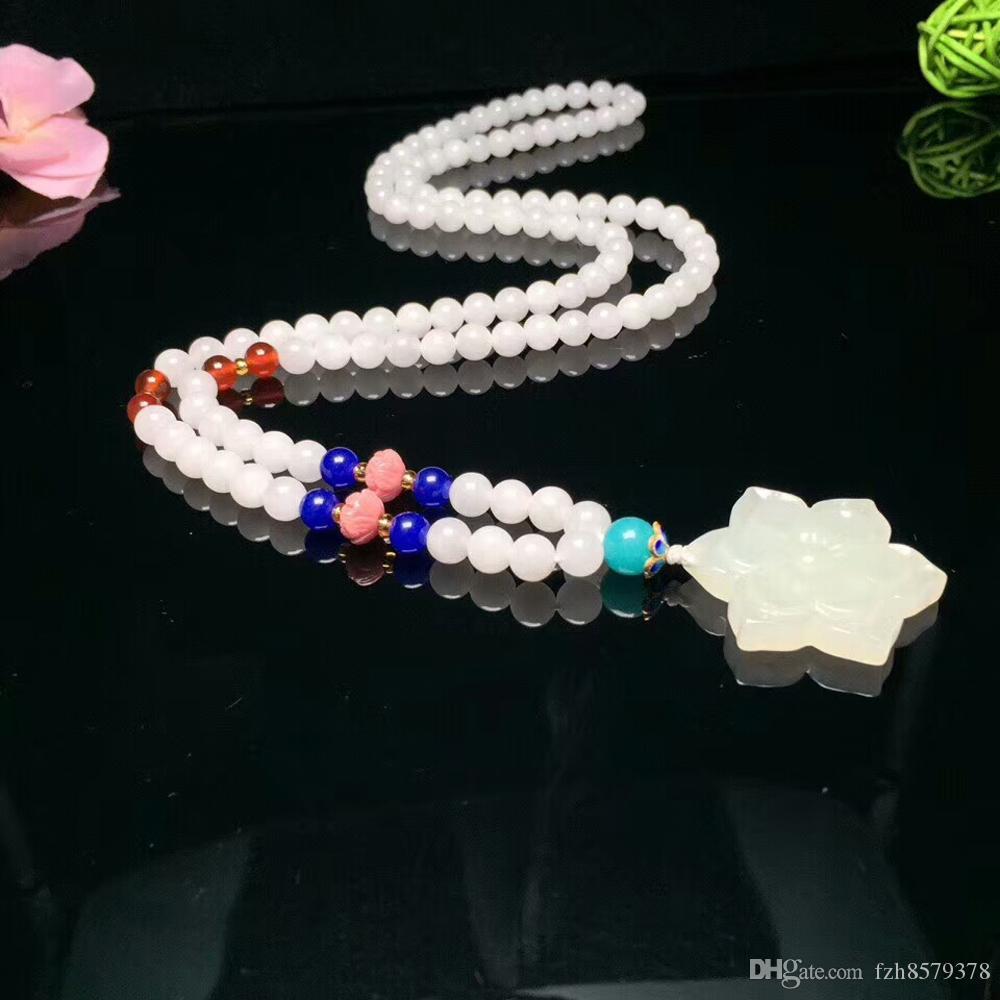 af639353d3cf Compre W0012 Amuletos De Plata Colgantes De Jadeíta   Tradición Colgante De  Jade Blanco Collar   Collares De Bisutería De Moda China A  70.36 Del  Fzh8579378 ...