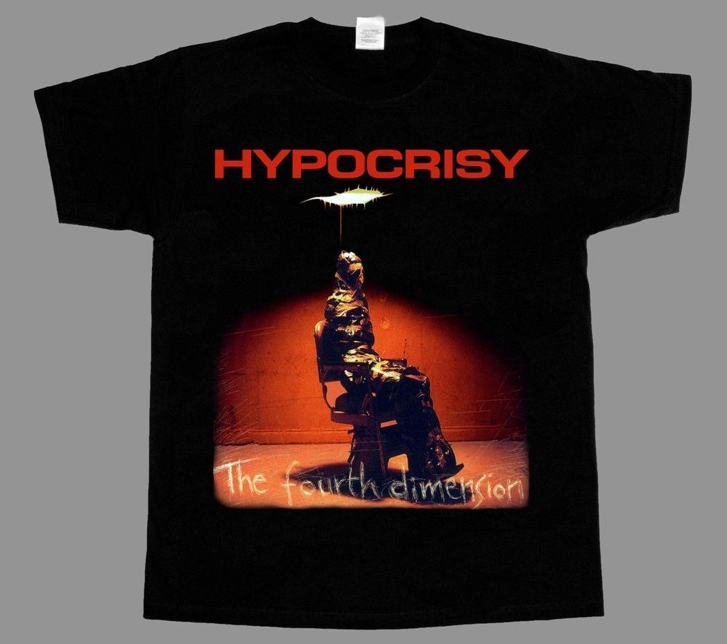 Hypocrisy The Fourth Dimension New Black Rock T Shirt Graphic T