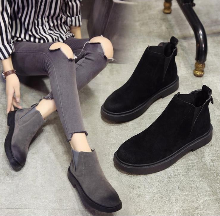 c3b3d5d498cf 2018 New Women Snow Boots Australian Style Cow Suede Leather ...