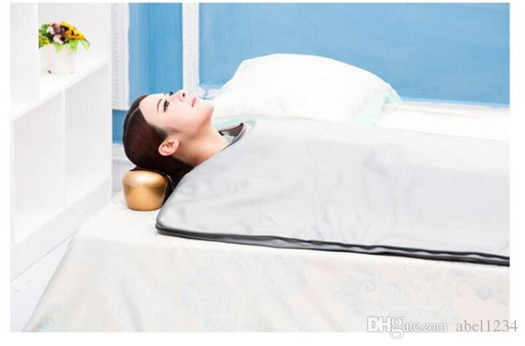 New model 2 Zone FIR Sauna FAR INFRARED BODY SLIMMING SAUNA BLANKET heating therapy Slim Bag SPA WEIGHT LOSS body detox machine