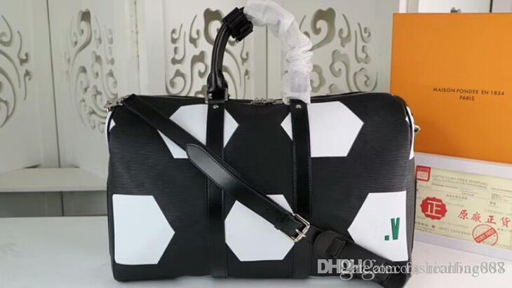 f16b2a170 Compre AAA M52187 50cm KEEPALL BANDOULIERE 50 Epi Bolso De Piel De Vaca De  Cuero, 2018 World Collection Collection Travel Handbag, Con Bolsa De Polvo,  ...