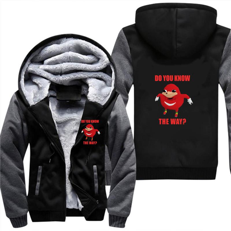 2019 Drop Shipping Ugandan Knuckles Do You Know The Way Men S Thick Coat  Plus Velvet Sweatshirt Size Hot Theme Team Hoodies 5xl From Meicloth 99abb643f