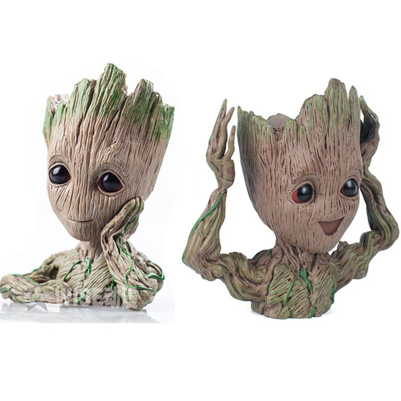 2019 14cm Baby Grootted Guardians Of The Galaxy Flowerpot Action