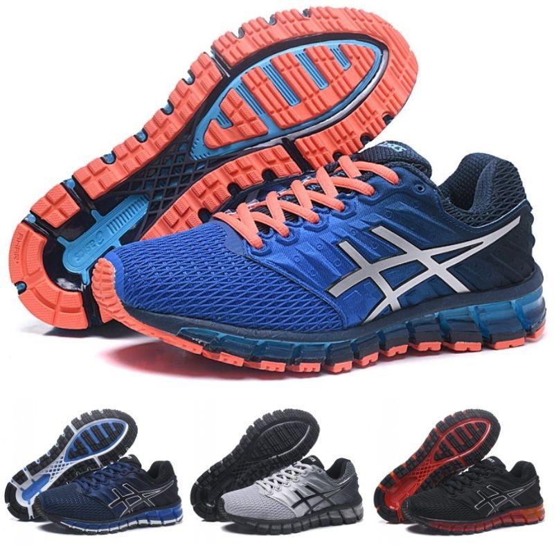100% authentic 94136 8d094 Asics Brand design 360 GEL-QUANTUM 2 2s Mens Jogging Sneakers Blue orange  Original New Top Quality Sport Outdoor Running Shoes Trainer