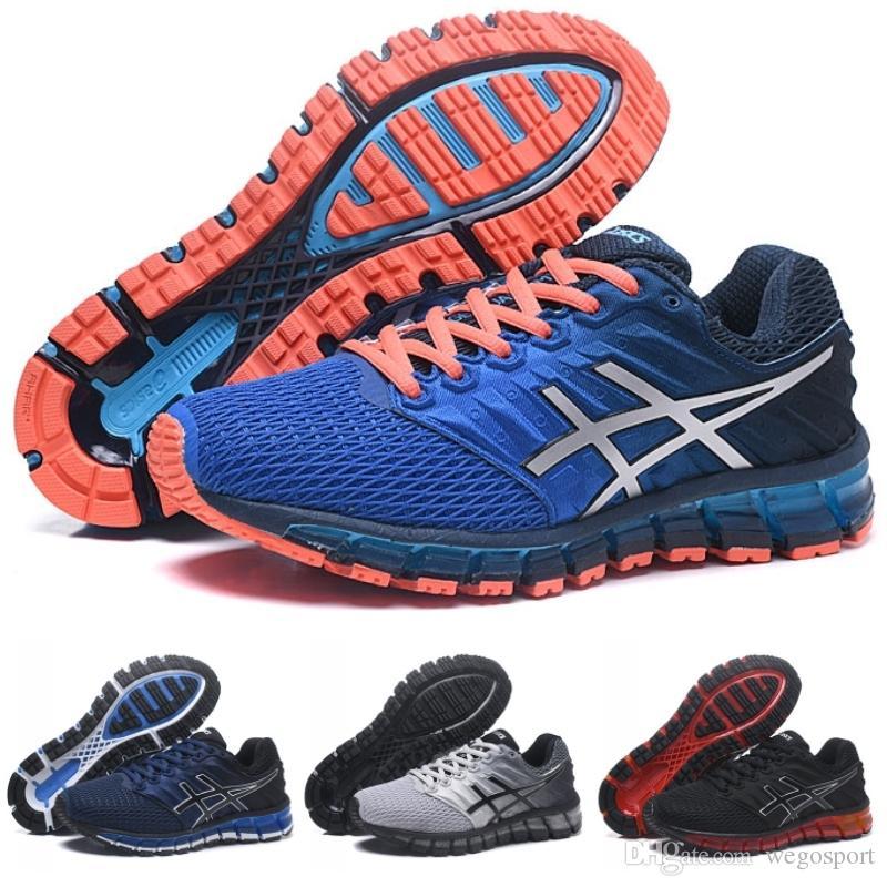 Deporte Quantum Zapatillas Superior Design Gel Azul Original Hombre Calidad 2s Asics Para Brand Nuevo De Naranja 360 2 v0mnONw8