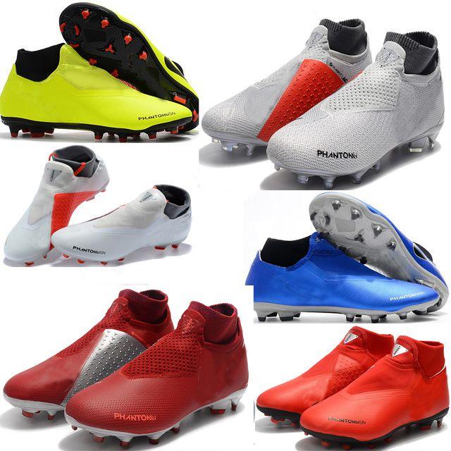 833b22c8c70c2 Acheter Chaussures De Football En Cuir D origine Hypervenom Bottes De Soccer  Pour Hommes Crampons De Vision Phantom Vision Elite DF FG Pour Chaussettes  De ...
