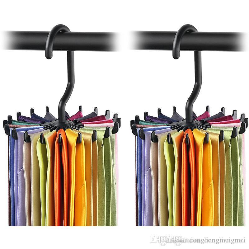 Superbe 2018 Rotating Tie Rack Organizer Hanger Closet Organizer Hanging Storage  Scarf Rack Tie Rack Holds 20 Neck Ties Hook Wn333 From Dongliangmei_no1, ...