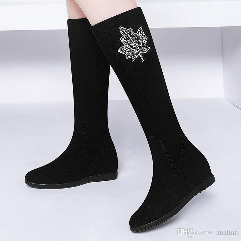 New Sexy Rhinestone Women Half Boots High Heel Classic Sexy Flower Shoes Female zip Wedding Shoes Black Size 34-39