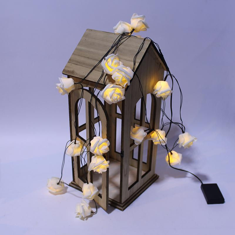 20 Led Rose Artificial Flower 4m Home Wall Decoration Wedding