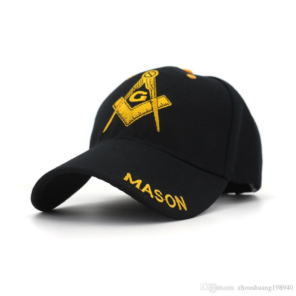 a9dbafa8038 Black Cap Mason Embroidery Baseball Cap Snapback Caps Casquette Hats ...