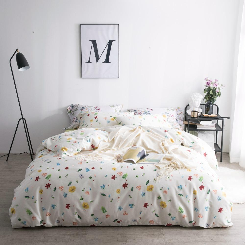 satin bed set teen girl bedding luxury bedsheet flowers printed rh dhgate com