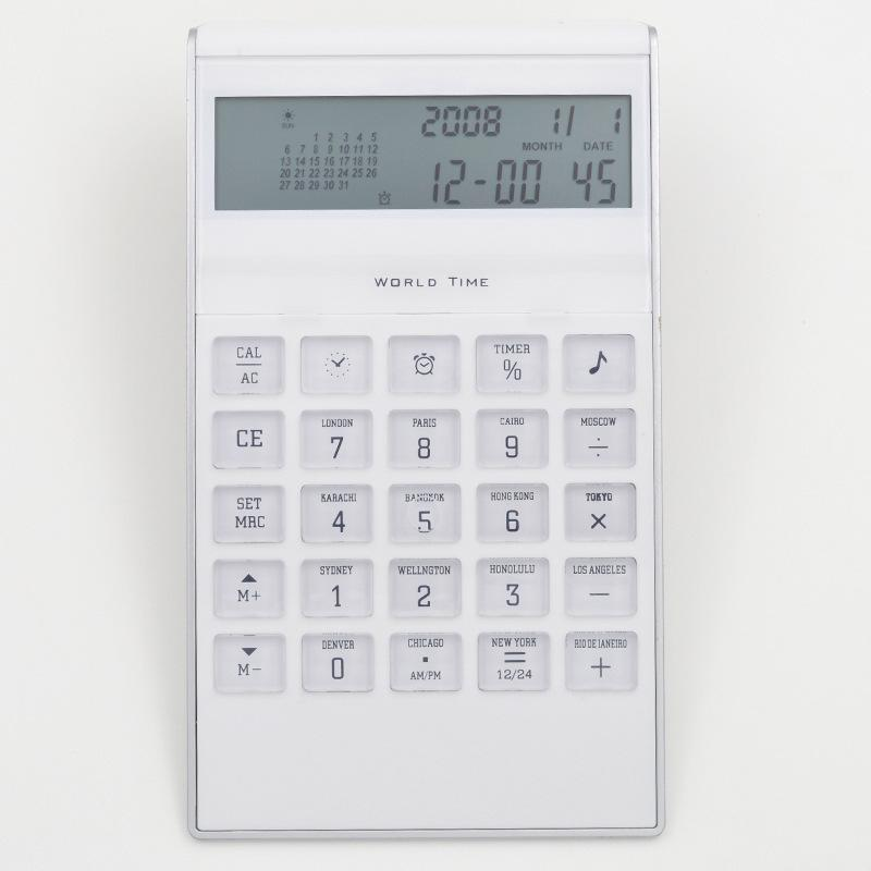 portable calculator world time clock calculator calendar calculator