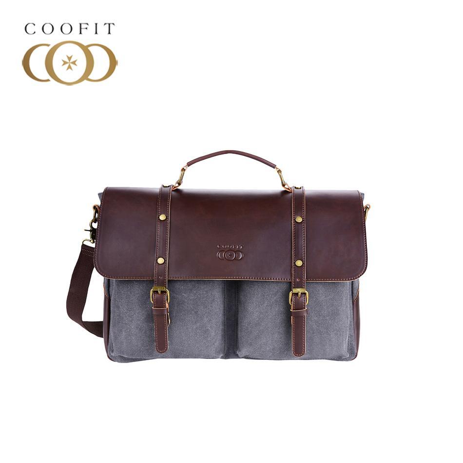 Coofit Men S Messenger Bags Canvas Briefcase Retro Multi Pocket Crossbody  Shoulder Bag Large Capacity For Laptop Up To 14 Inch Luxury Handbags  Handbags ... f48b0bdcf0