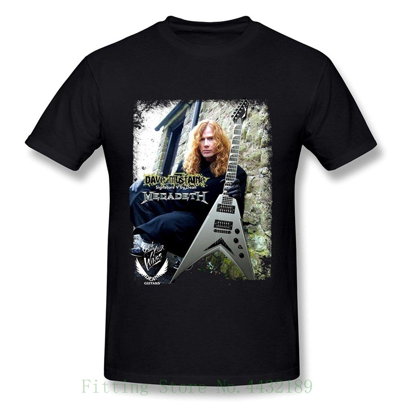 569fc30578c Megadeth Dave Mustaine Poster Men's Fashion T Shirts Black T shirt Summer  Novelty Cartoon T Shirt