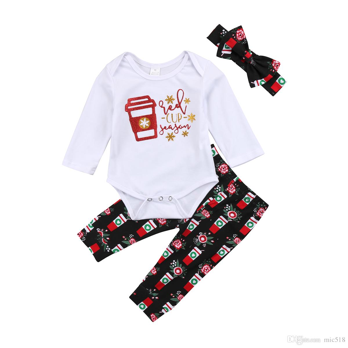 f3a9ad8d14cf 2018 Brand New Newborn Toddler Infant Baby Girls Boys Christmas Set ...