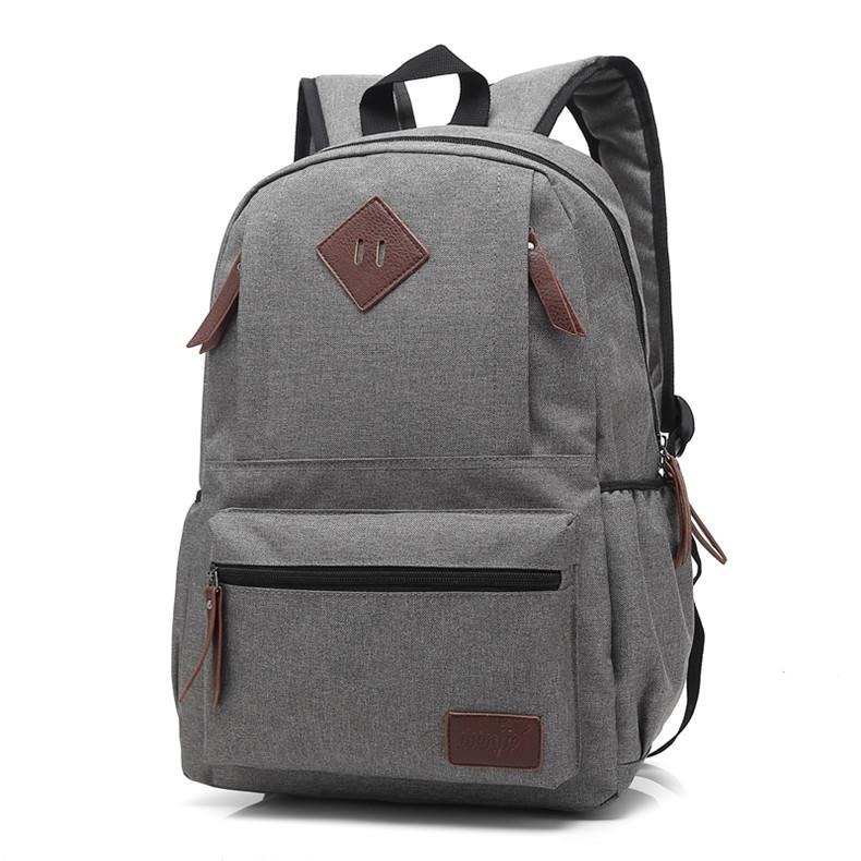 5d79616c04 Brand School Bags For Teenagers Canvas Backpack Fashion Laptop Travel  Backpack Bookbags Men And Women Sac A Dos Femme Eastpack One Strap Backpacks  Trendy ...