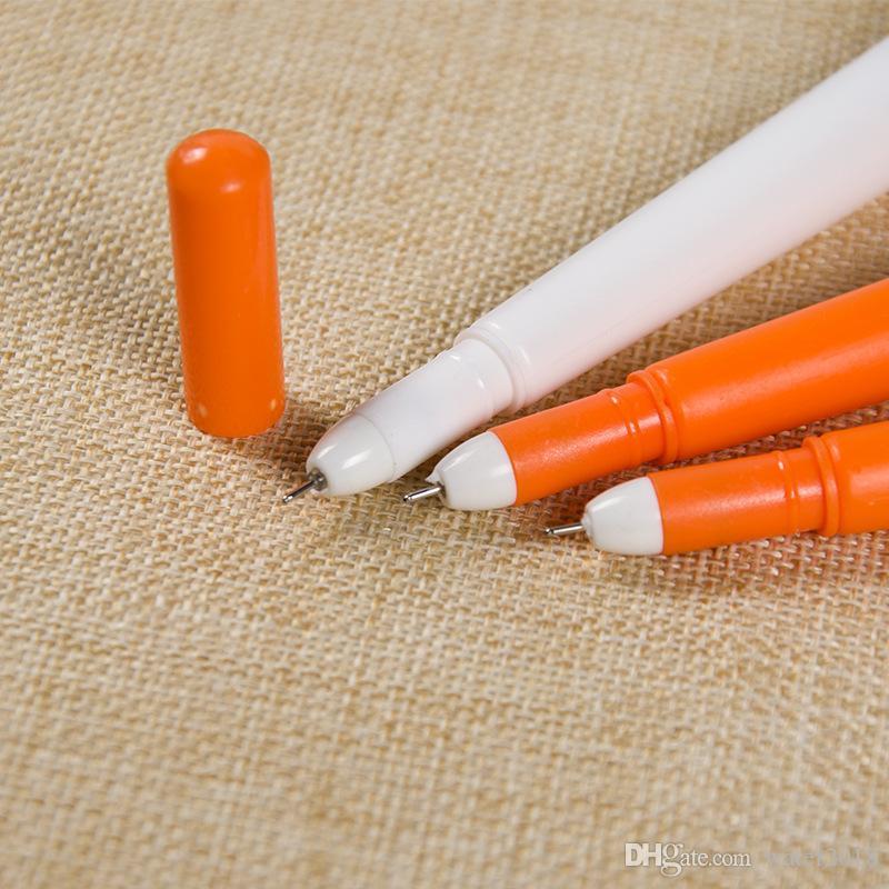 0.38mm Yaratıcı Silikon Sevimli Siyah Dolum Nötr Kalem Kırtasiye Kore Kişiselleştirilmiş İmza Jel Kalemler Öğrenci Havuç Su Bazlı Kalem 356