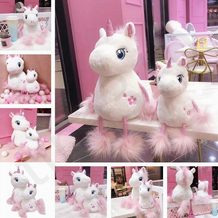 Ins Internet Celebrity Sakura Unicorn Plush Toys Lovely Pink Pony Doll Birthday Gift Give Girlfriend T7I744 Outside Seat Cushions Wicker Patio Furniture