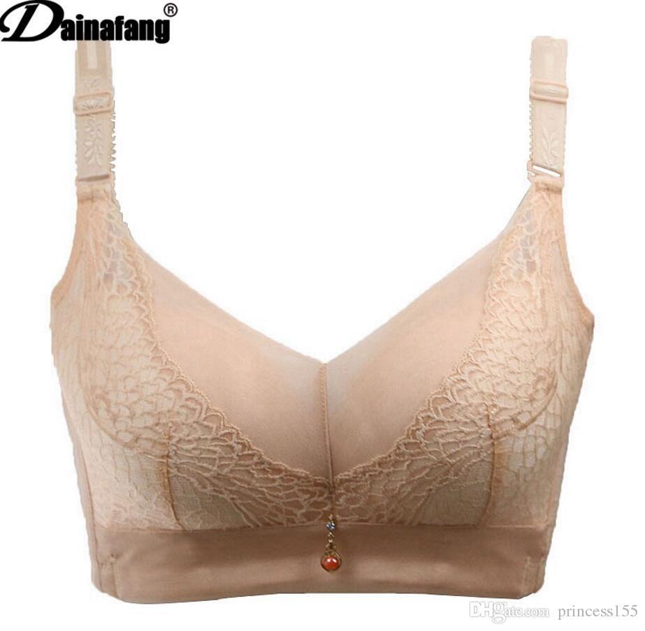 2018 neue große Größe Unterwäsche ohne Stahlring Unterwäsche verstellbare Frauen BH große Größe BH Großhandel