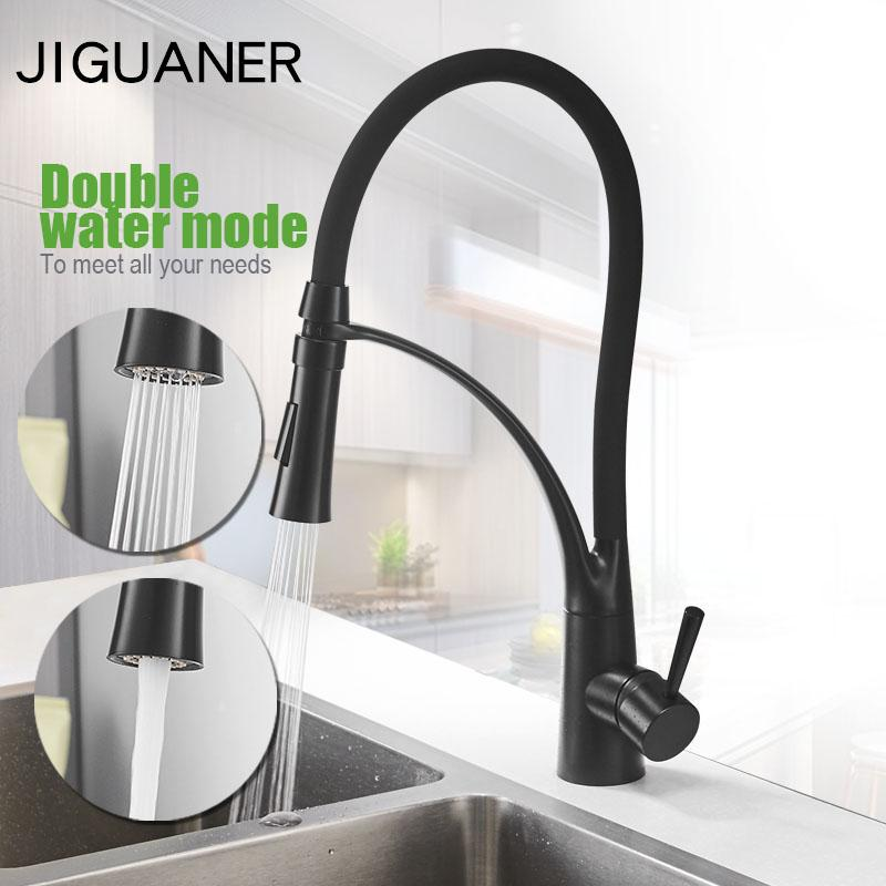 2019 Black Kitchen Faucet Pull Down Sprayer 360 Rotation Kitchen