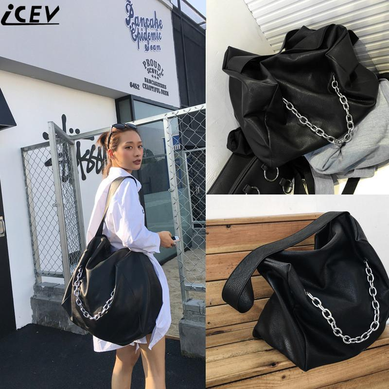 ICEV Famous Designer Brand Women Leather Handbags Large Capacity Shopping  Bag High Quality Big Black Casual Tote Bag Soft Bolsas Ladies Handbags  Leather ... 46c7db31cbfe3