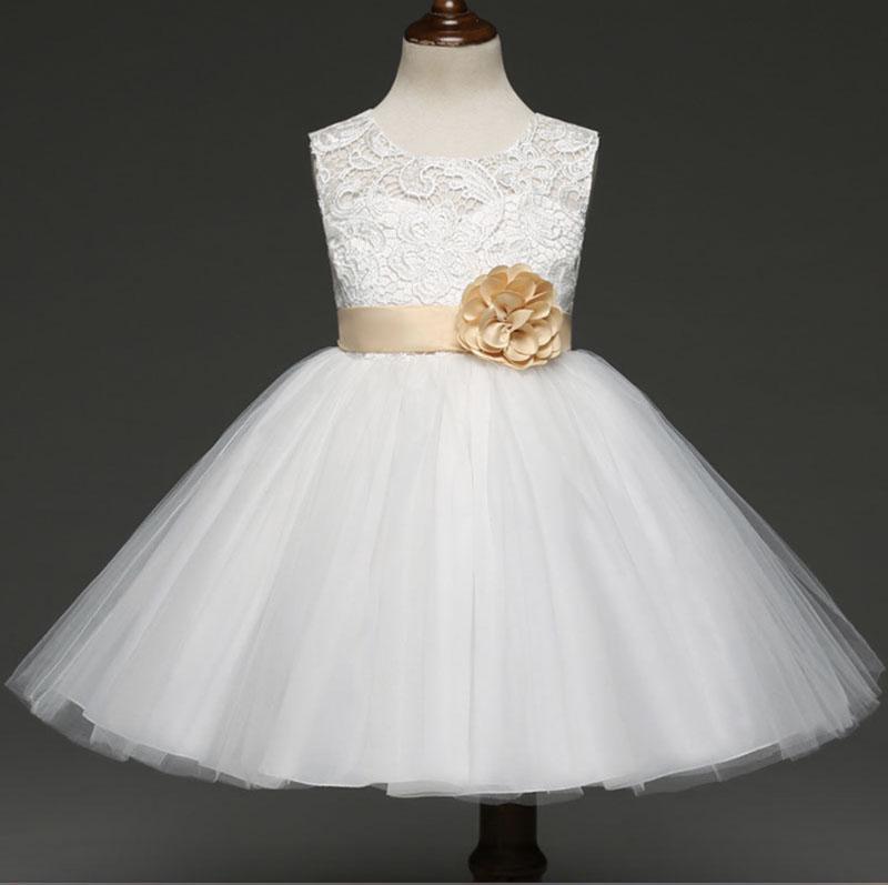 Fashion flower princess dresses for children best gift high-grade bow dress 5 size RC113451