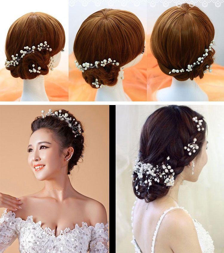Women Girls Fashion Hairpins Simulate Pearl Wedding Bridal Hair Pins Styling Tools Decoration Headwear Hair Clip Braiding
