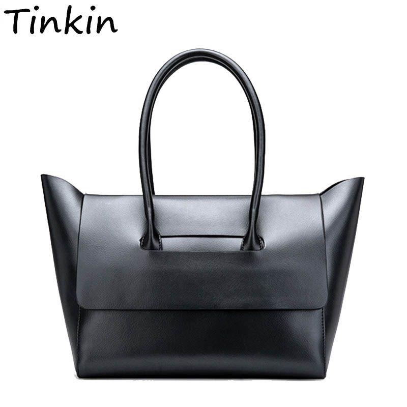 f26c7ff4250d Tinkin Women Vintage Daily Handbag For Shopping Female PU Classy Casual Totes  Lady Elegant All Match High Capacity Dames Tassen Luxury Handbags Leather  ...