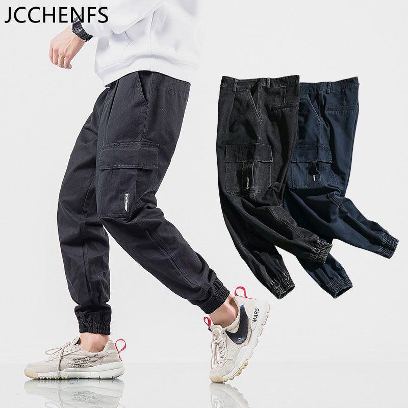 f96b9df951569 Compre JCCHENFS 2018 Pantalones De Hip Hop Hombres De Gran Tamaño Multi  Pocket Street Style Pantalones Marca De Algodón Casual Hombres Negro Jogger  Tamaño  ...