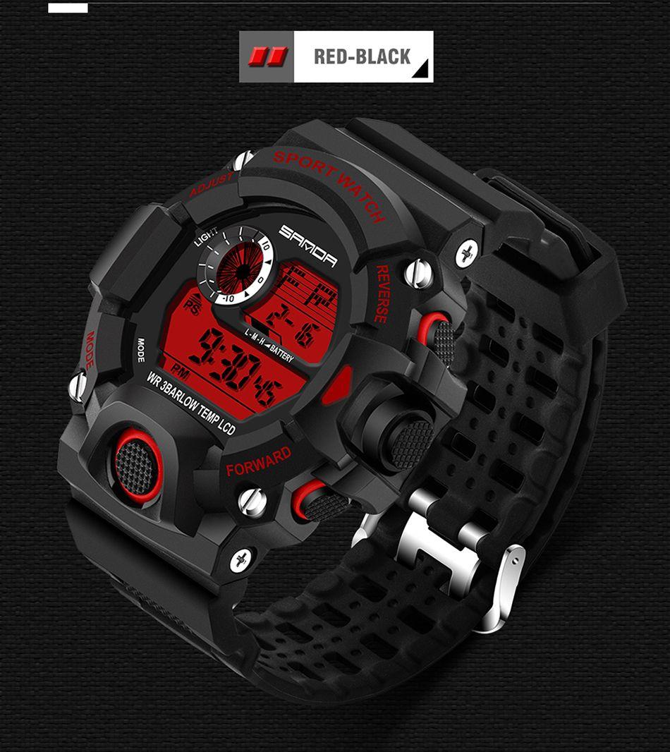 2019 Luxury Real Shock Аналоговые Кварцевые Цифровые Мужские Часы 2018 Новый Бренд Sanda Мода G Стиль 50 м Водонепроницаемые Спортивные Военные Часы