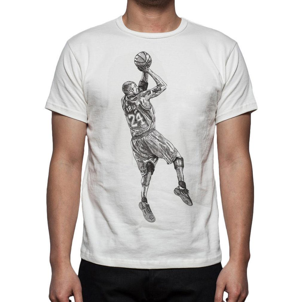 ba612911b Basketball T Shirt Jersey Kobe Bryant M135 Summer Short Sleeve Shirts Tops  S~3Xl Big Size Cotton Tees Awesome T Shirts For Sale White T Shirts With  Designs ...