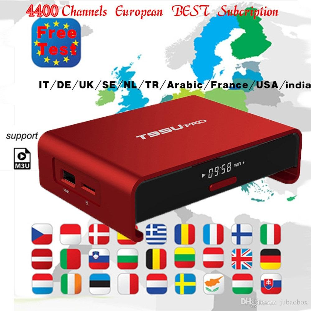 IPTV Arabic T95u pro tv box with Streaming iptv m3u Apk free 4400 live tv  Europe USA Canada UK Germany channels