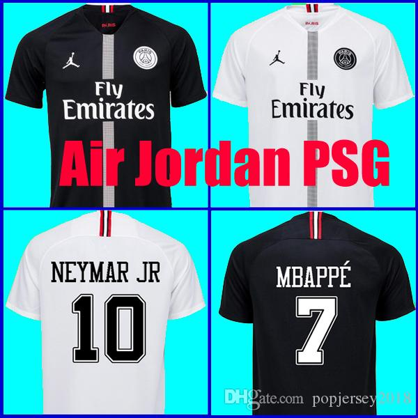 87f4e2c45d927 Compre Top Tailândia Qualidade AIR JORDAN PSG 3RD 18 19 Camisas De Futebol  2019 Paris Saint Germain Camisa NEYMAR JR MBAPPE Jersey Survetement Futebol  Kit ...