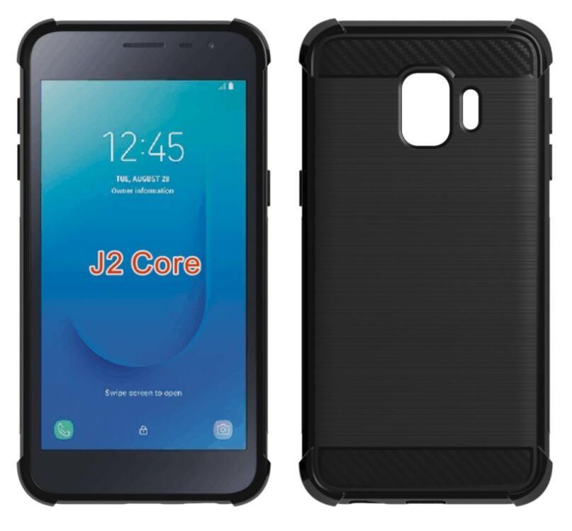 51e803e3575 Accesorios Movil Para Samsung Galaxy M10 M20 Funda De Fibra De Carbono  Samsung J2 Core Soft TPU Gel Protector De Piel Cubierta Del Teléfono Shell  Fundas ...
