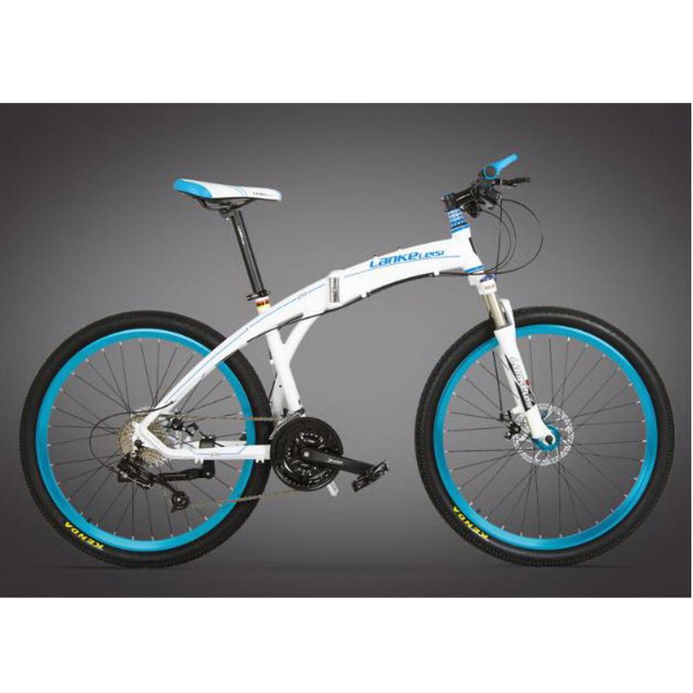 Bici Pininfarina Pieghevole Bianca.L260103 26 Pollici Pieghevole Mountain Bike Lega Di Alluminio Tondo 27 Velocita Olio Piatto Fuoristrada Bicicletta Pieghevole Vernice