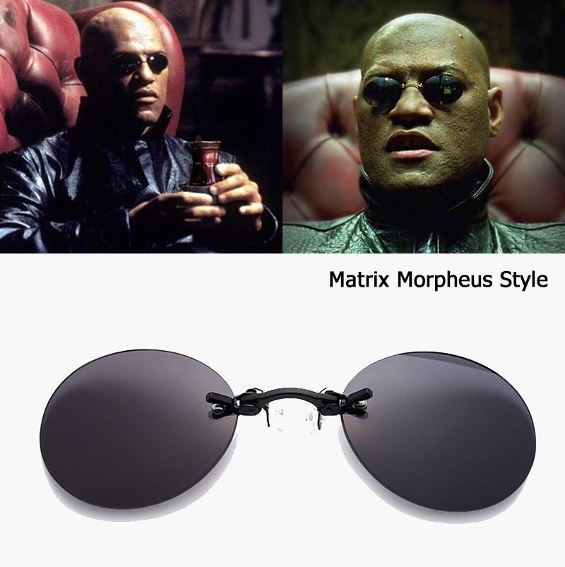 e4a6a4fb2f JackJad Fashion The Matrix Morpheus Style Roumd Rimsless Sunglasses ...