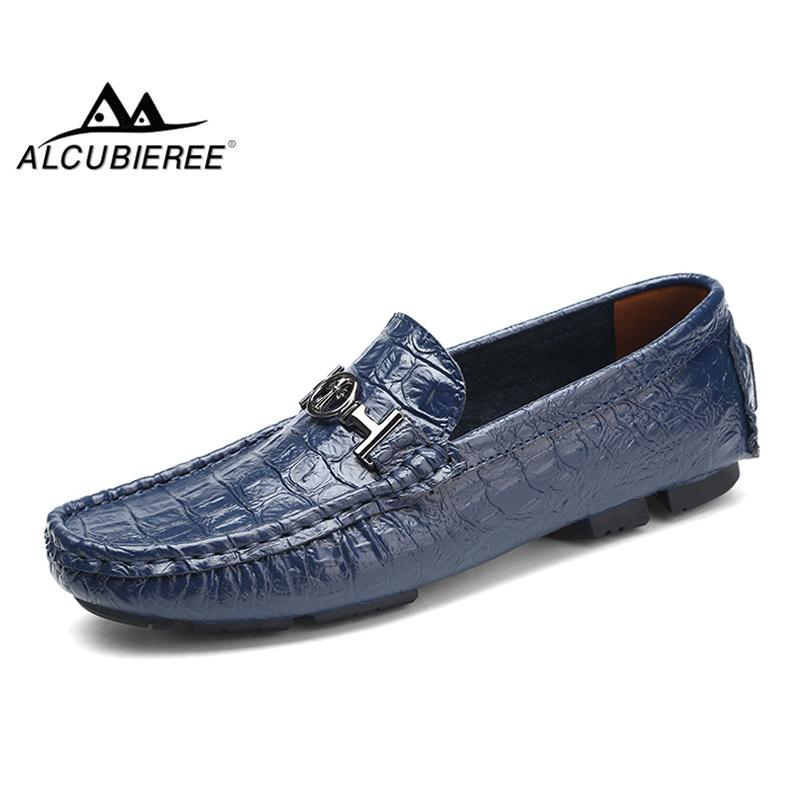 493742bba ALCUBIEREE Brand Big Plus Size 38 50 Mens Crocodile Style Loafers Genuine  Leather Flats Fashion Slip On Driving Shoes Shoes For Women Dansko Shoes  From ...