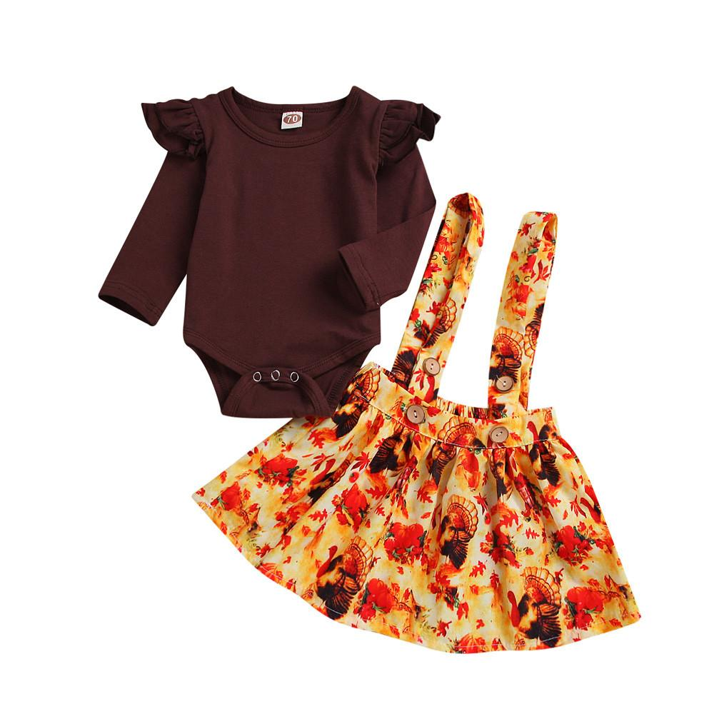 61b4afab1788 MUQGEW Baby Girls Boys Clothes Winter Newborn Infant Baby Girl Romper  Tops+Tutu Skirts Turkey Thanksgiving Outfit Set