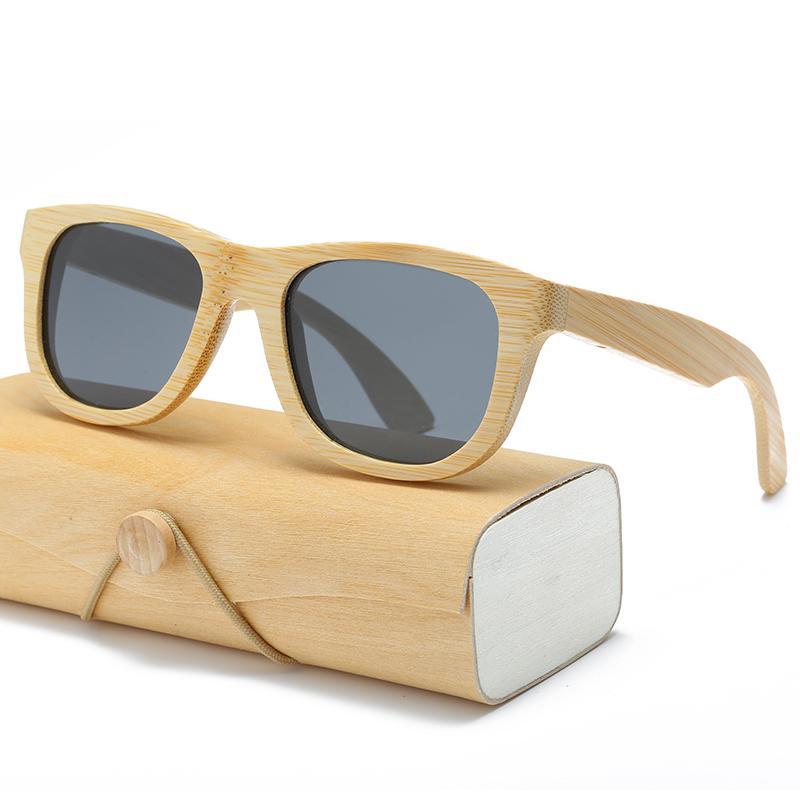 e9f9fc7df6560b Wood Sunglasses Men Women Square Bamboo Women for Men Women Mirror ...