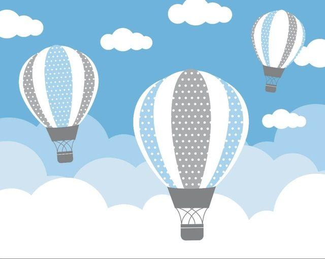 Acquista 7x5ft Cielo Azzurro Bianco Nuvole In Mongolfiera Casa In